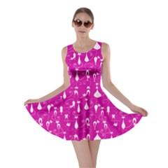 Violet Lovely Cats Pattern Skater Dress