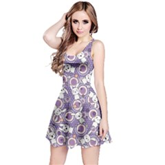 Violet Pattern Doddle Kawaii Sleeveless Skater Dress