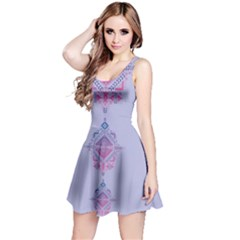Violet Tribal Sleeveless Dress
