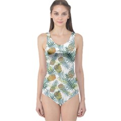 Pineapple Cut Out One Piece Swimsuit
