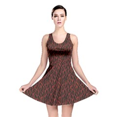 Dark Red Flame Hell Fire Seamless Reversible Skater Dress