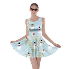 Light Blue Snowman 2 Skater Dress