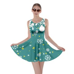Let It Snow Turquoise Skater Dress