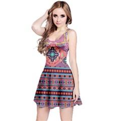 Purple Aztec Sleeveless Dress