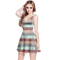 Marsalastripes Sleeveless Skater Dress