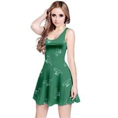 Green Tyrannosaurus Sleeveless Dress