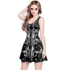 Dark Skull Xray Reversible Sleeveless Dress