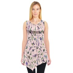 Pinky Floral Sleeveless Tunic Top