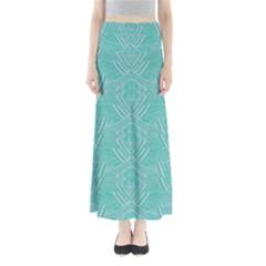 Mint Aztec Maxi Skirt