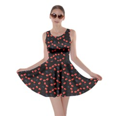 Red Cherry Pattern Summer Berries Skater Dress