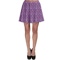 Purple Day Of The Dead Sugar Skull Skater Skirt