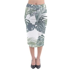 Palm Tree Midi Pencil Skirt