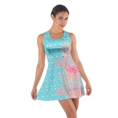 Flamingo Sky Blue Cotton Racerback Dress