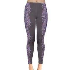 Purple Violet Paisley Leggings