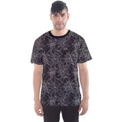 Black Halloween Spider Web Pattern Men s Sport Mesh Tee