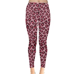 Purple Pink Leopard Texture Pattern Leggings