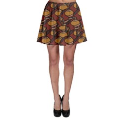 Brown African Ethnic Colorful Pattern Skater Dress