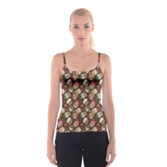 Colorful Pattern Of Tasty Cupcakes Spathetti Strap Top