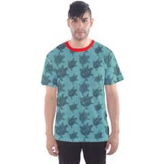 Turquoise Pattern Turtles Men s Sport Mesh Tee