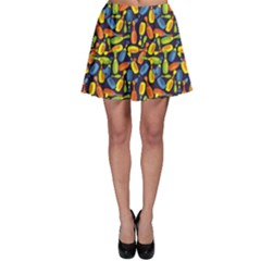 Colorful Colored Bowling Pattern Skater Skirt