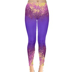 Skull Purple Flame Leggings