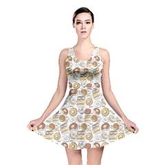 Colorful Donut Pattern Reversible Skater Dress