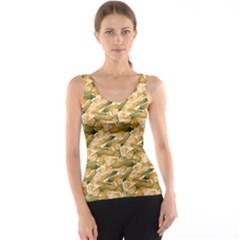 Colorful Vegetable Organic Food Yellow Corn Stalk Pattern Tank Top