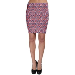 Red Pattern Of British Flag Bodycon Skirt