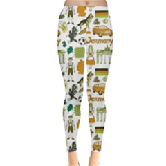 Colorful Fun Colorful Sketch Germany Pattern Leggings