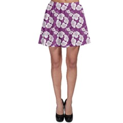 Purple With Hibiscus Flower Hawaiian Patterns Skater Dress