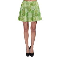 Green Ripe Green Apples Pattern Skater Dress