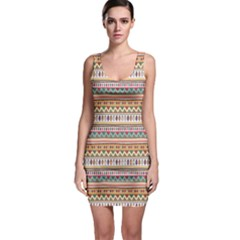 Colorful With Tribal Pattern Bodycon Dress