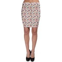 Colorful Pattern With Sushi Bodycon Skirt