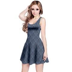 Blue Blue Wallpaper Pattern Sleeveless Dress