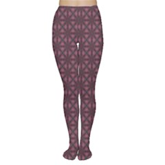 Purple Kaleidoscope Abstract Colorful Pattern Concept Tights