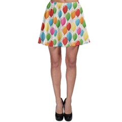 Colorful Pattern Balloons Skater Skirt