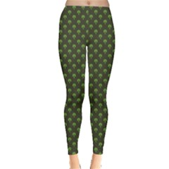 Green Pattern Clover St Patrick Leggings