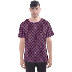 Pink Pattern Wiith Abstract Ornament Men s Sport Mesh Tee