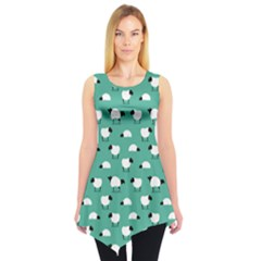 Green Wolf in Sheeps Clothing Wolf Dressed Sleeveless Tunic Top
