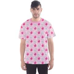 Pink Symbols Of Easter Men s Sport Mesh Tee