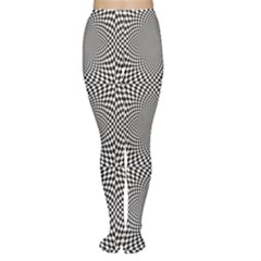 Black Black And White Chess Women s Tights