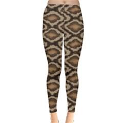 Black Python Snake Skin Pattern Women s Leggings