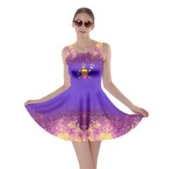 Skull Flame Purple Skater Dress