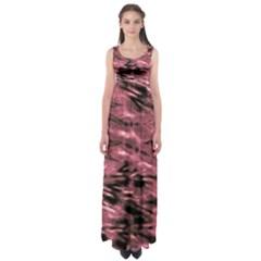 Red Tie Dye 2 Empire Waist Maxi Dress