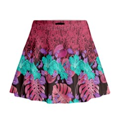 Coral Hawaii Mini Flare Skirt
