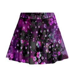 Magenta Hawaii Mini Flare Skirt