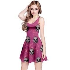 Hot Pink Skull Reversible Sleeveless Dress