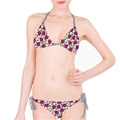 Colorful Pattern With Stylized Fresh Ripe Grapes Bikini Set