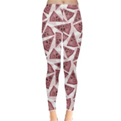 Pink Pizza Pattern With Different Ingredients Women s Leggings