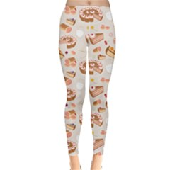 Colorful Set Of Desserts And Pastries Symbolizing A Coffee Shop Women s Leggings